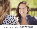 attractive girlfriends laughing ... | Shutterstock . vector #108719402