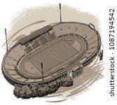 landmarks of sofia   national... | Shutterstock .eps vector #1087194542