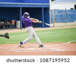 baseball players in action on... | Shutterstock . vector #1087195952