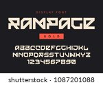 vector modern bold display font ... | Shutterstock .eps vector #1087201088