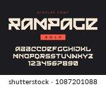 vector modern bold display font ... | Shutterstock .eps vector #1087201088
