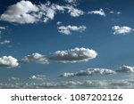 blue sky with clouds. white... | Shutterstock . vector #1087202126
