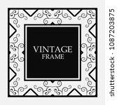 vector vintage border frame.... | Shutterstock .eps vector #1087203875