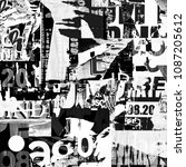 torn street posters collage... | Shutterstock . vector #1087205612