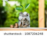 growing deposit photo. leaf... | Shutterstock . vector #1087206248