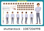 young man in casual clothes.... | Shutterstock .eps vector #1087206998