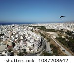 drone aerial view on heraklion  ... | Shutterstock . vector #1087208642