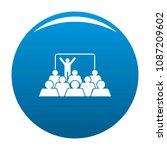 presentation icon. simple... | Shutterstock .eps vector #1087209602