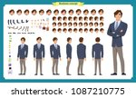 people character business set.... | Shutterstock .eps vector #1087210775