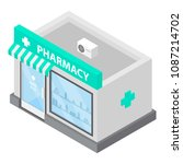 pharmacy icon. isometric of... | Shutterstock .eps vector #1087214702
