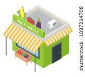 vegetables market icon.... | Shutterstock .eps vector #1087214708