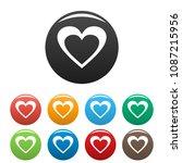 huge heart icon. simple... | Shutterstock .eps vector #1087215956