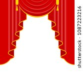 curtains with lambrequins on... | Shutterstock .eps vector #1087223216