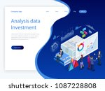 isometric analysis data and... | Shutterstock .eps vector #1087228808