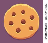 cute stylized cookie with... | Shutterstock .eps vector #1087240232