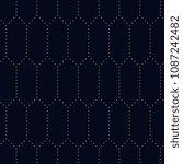 simple geometric pattern. flat...   Shutterstock . vector #1087242482