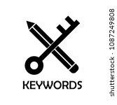 keywords icon. element of... | Shutterstock .eps vector #1087249808