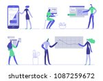office concept business people. ... | Shutterstock .eps vector #1087259672
