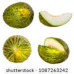 melon isolated on white... | Shutterstock . vector #1087263242