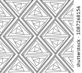abstract vector geometric... | Shutterstock .eps vector #1087268156