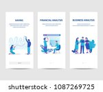 business data analysis  data... | Shutterstock .eps vector #1087269725