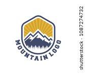 mountain adventure logo vector | Shutterstock .eps vector #1087274732