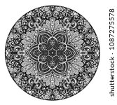 vector black and white floral... | Shutterstock .eps vector #1087275578