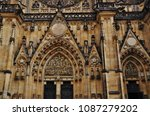 exterior of st. vitus cathedral ... | Shutterstock . vector #1087279202