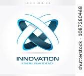 innovation and technology logo | Shutterstock .eps vector #1087280468