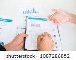 asian business adviser meeting... | Shutterstock . vector #1087286852