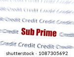 sub prime text in red  with... | Shutterstock . vector #1087305692