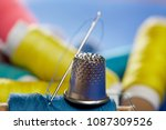 diy concept. sewing supplies ... | Shutterstock . vector #1087309526