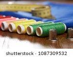 diy concept. sewing supplies ... | Shutterstock . vector #1087309532