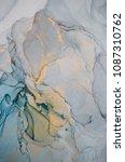 ink  paint  abstract. closeup... | Shutterstock . vector #1087310762