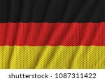 germany flag printed on a... | Shutterstock . vector #1087311422