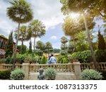 couple in love travel happy... | Shutterstock . vector #1087313375