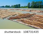 Raw Logs Floating Down The...