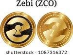 set of physical golden coin...   Shutterstock .eps vector #1087316372