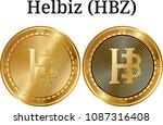 set of physical golden coin...   Shutterstock .eps vector #1087316408