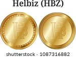 set of physical golden coin... | Shutterstock .eps vector #1087316882