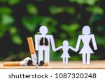 paper dolls  parents and... | Shutterstock . vector #1087320248