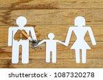 paper dolls  parents  sons. the ... | Shutterstock . vector #1087320278