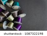 colorful espresso coffee... | Shutterstock . vector #1087322198