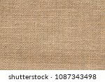 burlap background and texture | Shutterstock . vector #1087343498