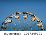 ferris wheel with blue sky | Shutterstock . vector #1087349372