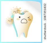 tooth with decay problem on the ...   Shutterstock .eps vector #1087351832