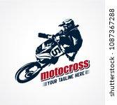 extreme motocross logo designs... | Shutterstock .eps vector #1087367288