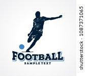 football sport silhouette logo... | Shutterstock .eps vector #1087371065