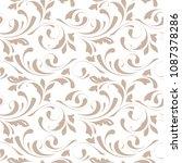 floral seamless pattern.... | Shutterstock .eps vector #1087378286
