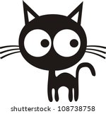vector illustration of cat | Shutterstock .eps vector #108738758